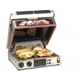 Presso Four MAJESTIC, presse-sandwich et plaque vitrocéramique, Grand Modèle