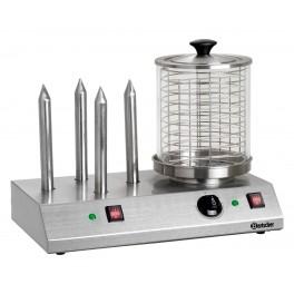 Chauffe-saucisse électrique avec 4 plots chauffe-pain