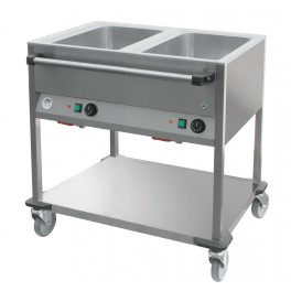 Bain-marie sur chariot 2 cuves GN1/1