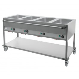 Bain-marie sur chariot 4 cuves GN1/1