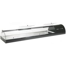 Vitrine à tapas / vitrine à sushi ouverture frontale, 10 GN1/3
