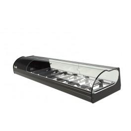 Vitrine réfrigérante, vitrine à tapas ou vitrine à sushi capacité 4 bacs GN1/3