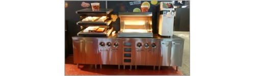 Mobilier inox fastfood