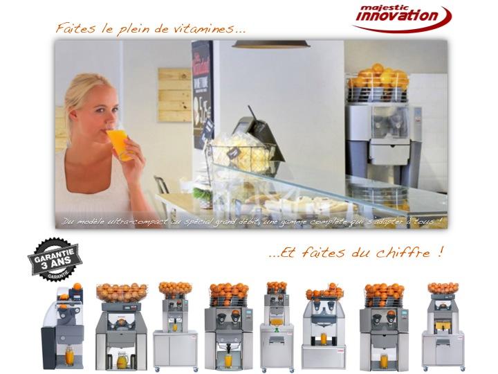 Gamme ultra-complète de presse-agrumes 100% automatiques